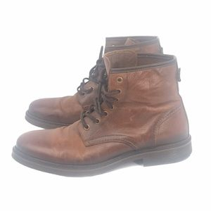DNA FOOTWEAR DWIGHT LACE UP LEATHER BOOTS